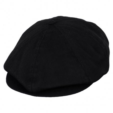 Brood Tonal Herringbone Cotton Newsboy Cap