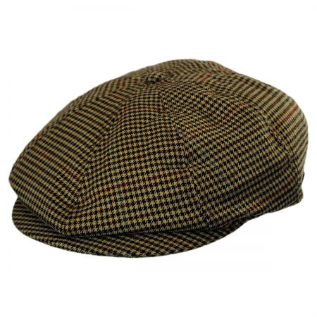 Brixton Hats Brood Houndstooth Plaid Poly Newsboy Cap