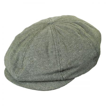 Brixton Hats Brood Linen and Cotton Twill Newsboy Cap