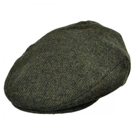 Brixton Hats Hooligan Houndstooth Plaid Wool Blend Ivy Cap