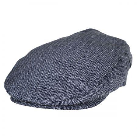 Brixton Hats Barrel Herringbone Linen Ivy Cap