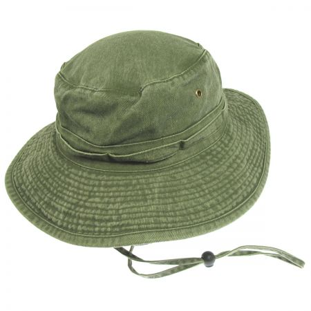 Village Hat Shop VHS Cotton Booney Hat - Olive