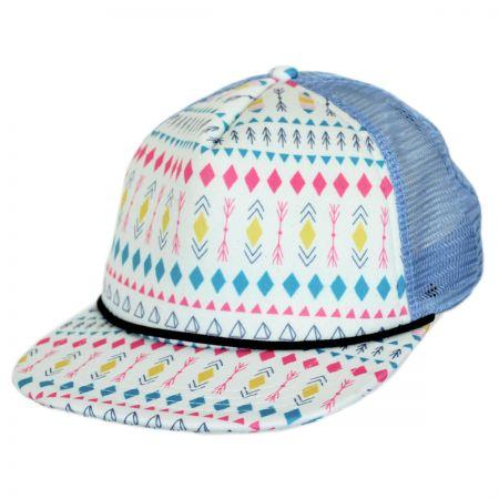 San Diego Hat Company Kids' Azteca Mesh Trucker Snapback Baseball Cap