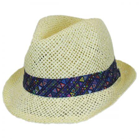 San Diego Hat Company Toddler's Azteca Toyo Straw Fedora Hat