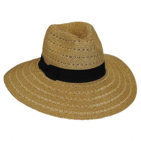 San Diego Hat Company Tejer Toyo Straw Wide Brim Fedora Hat
