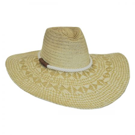 San Diego Hat Company Cuerda Toyo Straw Wide Brim Fedora Hat
