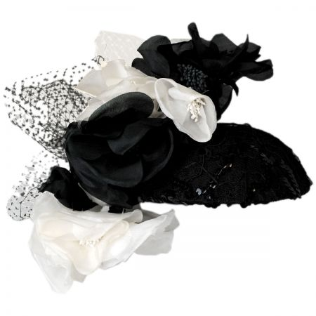 Arturo Rios Collection Flower and Lace Fascinator