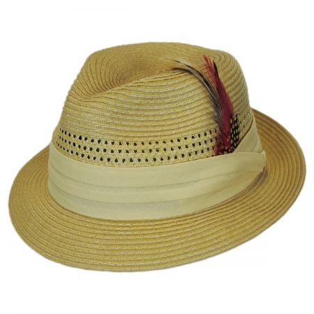 Capas Headwear Kid's Vent Straw Trilby Fedora Hat