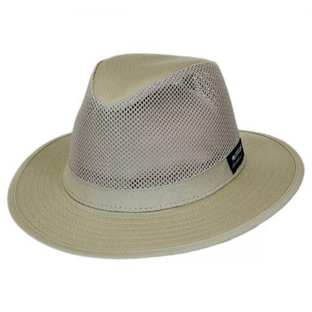 Panama Jack Mesh Crown Cotton Safari Fedora Hat