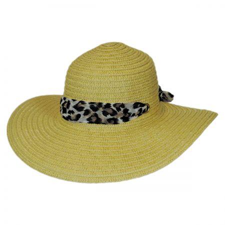 Panama Jack Leopard Scarf Swinger Hat