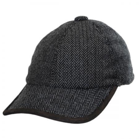 Woolrich Herringbone Earflap Ball Cap