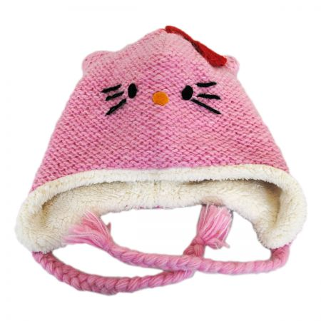 Hello Kitty Hello Kitty Wool Peruvian Beanie Hat