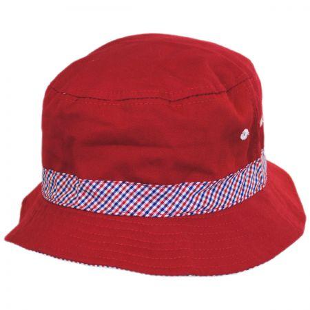 Scala Kids' Patriot Cotton Bucket Hat