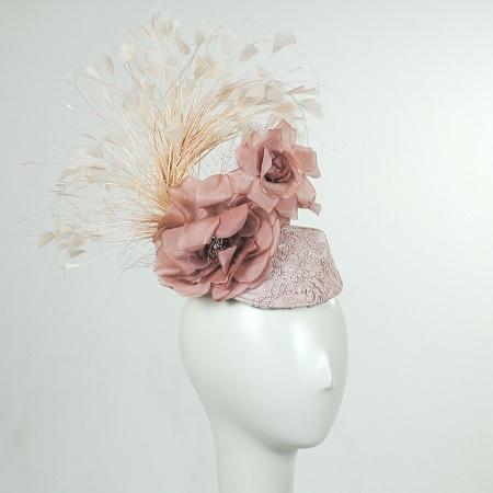 Arturo Rios Collection Blush Fascinator Hat
