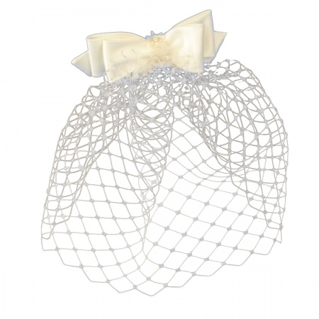 Arturo Rios Collection Bow and Veil Comb Fascinator