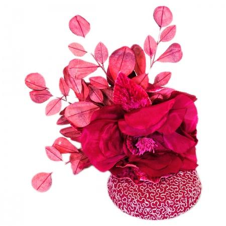Arturo Rios Collection Fuchsia Fascinator Hat