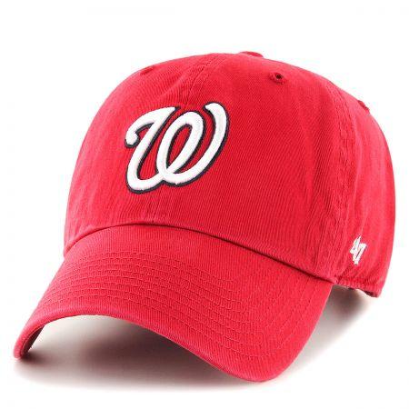 47 Brand Washington Nationals MLB Clean Up Strapback Baseball Cap Dad Hat