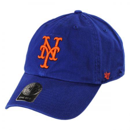 47 Brand New York Mets MLB Clean Up Strapback Baseball Cap Dad Hat