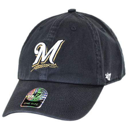 47 Brand Milwaukee Brewers MLB Clean Up Strapback Baseball Cap