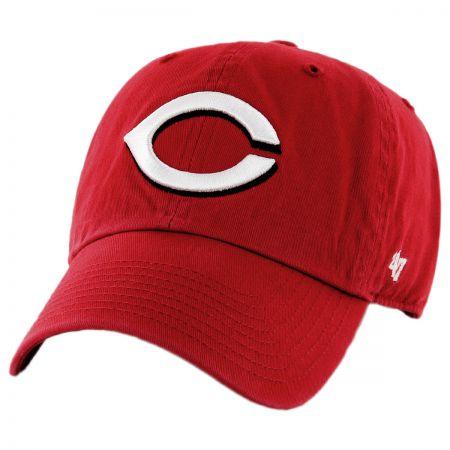 47 Brand Cincinati Reds MLB Clean Up Strapback Baseball Cap Dad Hat