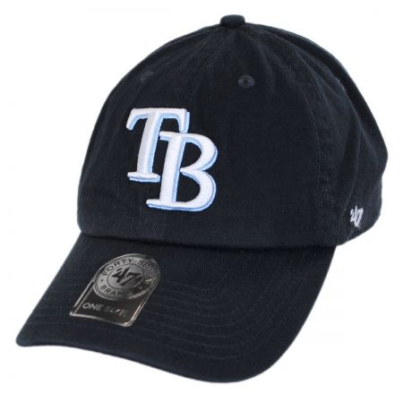 47 Brand Tampa Bay Rays MLB Clean Up Strapback Baseball Cap
