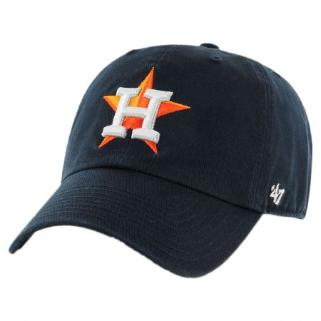 47 Brand Houston Astros MLB Clean Up Strapback Baseball Cap Dad Hat