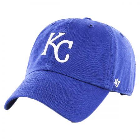 47 Brand Kansas City Royals MLB Clean Up Strapback Baseball Cap Dad Hat