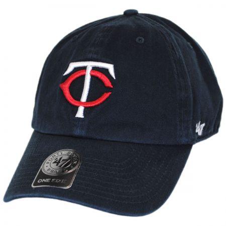 47 Brand Minnesota Twins MLB Clean Up Strapback Baseball Cap Dad Hat
