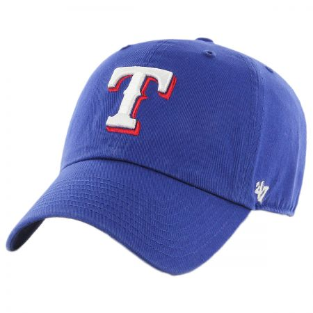 47 Brand Texas Rangers MLB Clean Up Strapback Baseball Cap Dad Hat