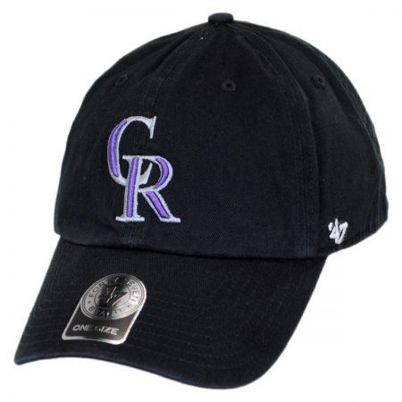 47 Brand Colorado Rockies MLB Clean Up Strapback Baseball Cap Dad Hat