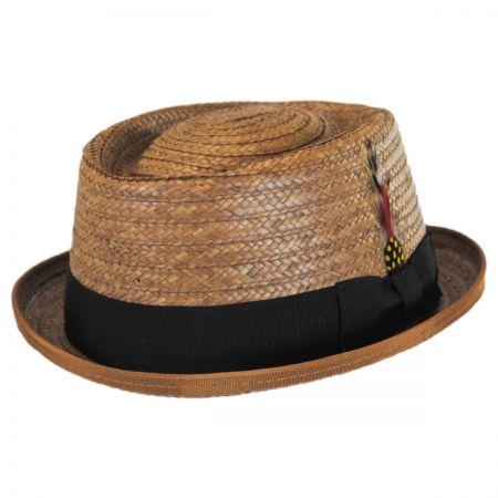 New York Hat Company Be Bop Coconut Straw Pork Pie Hat