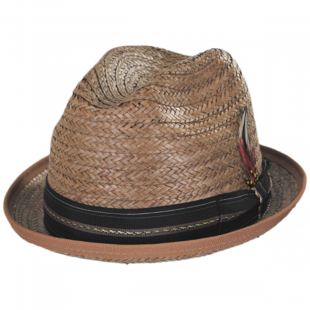 New York Hat Company Coconut Straw Stingy Fedora Hat