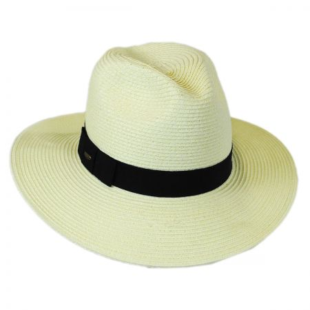 Scala Toyo Straw Braid Fedora Hat