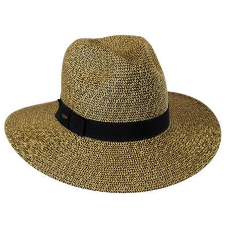 Scala Toyo Straw Braid Fedora Hat