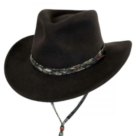 Mossy Oak Earflap Wool Felt Outback Hat
