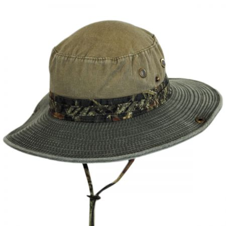 Mossy Oak Break Up Camo Snap Brim Cotton Boonie Hat