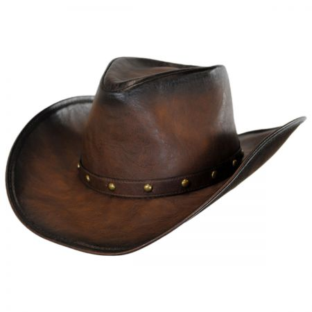 Faux Leather Western Hat alternate view 2