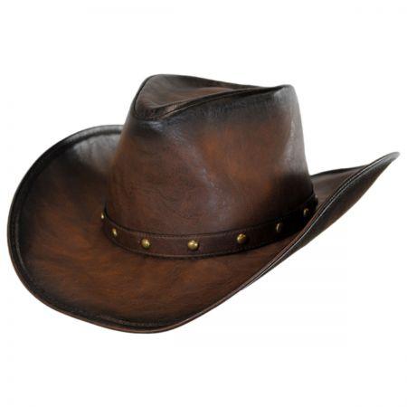 Kenny K Faux Leather Western Hat