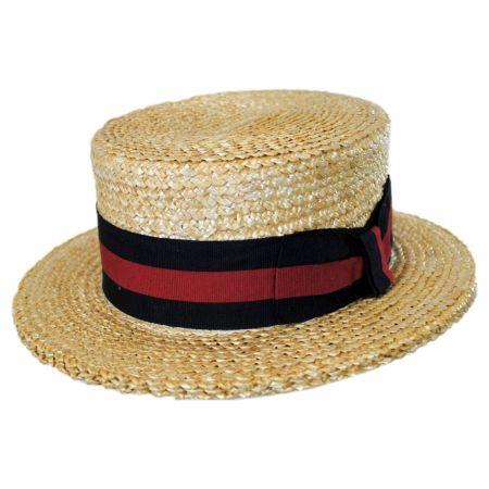 Stetson Sennett Italian Skimmer with Striped Hat Band