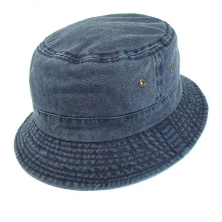 Village Hat Shop VHS Cotton Bucket Hat - Navy