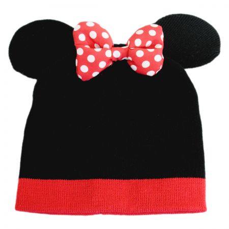 Disney Minnie Mouse Bow + Ears Beanie Hat