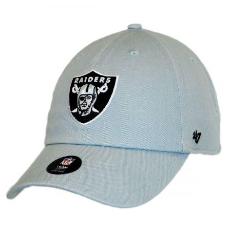 Oakland Raiders NFL Clean Up Strapback Baseball Cap Dad Hat alternate view 5