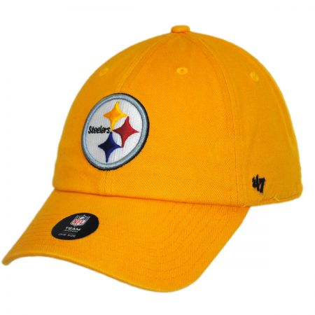 47 Brand Pittsburgh Steelers NFL Clean Up Strapback Baseball Cap