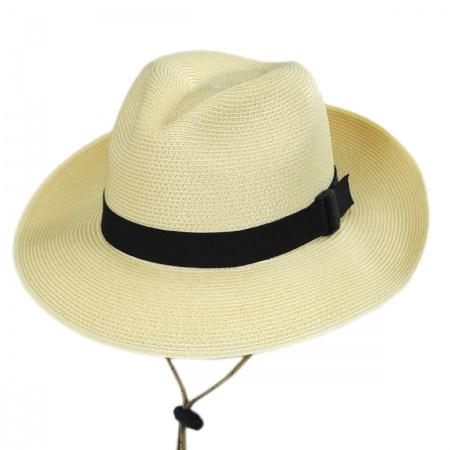 San Francisco Hat Co. Joe Straw Wide Brim Fedora Hat
