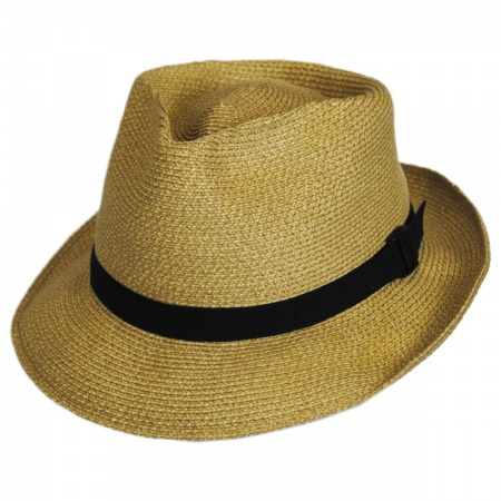 San Francisco Hat Co. Slouch Braided Fabric Fedora Hat