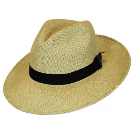 Folding Panama Straw Fedora Hat alternate view 1