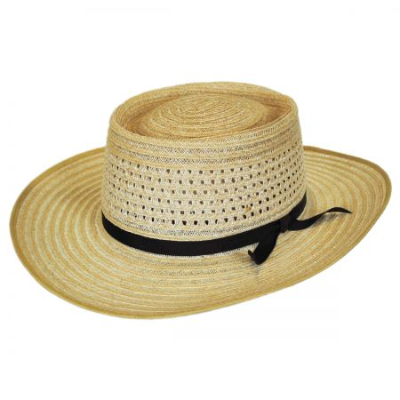 Akubra Vent Crown Hemp Straw Planter Hat