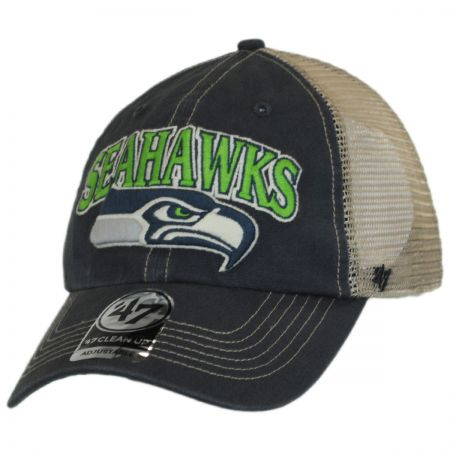 47 Brand Seattle Seahawks NFL Tuscaloosa Mesh Clean Up Baseball Cap