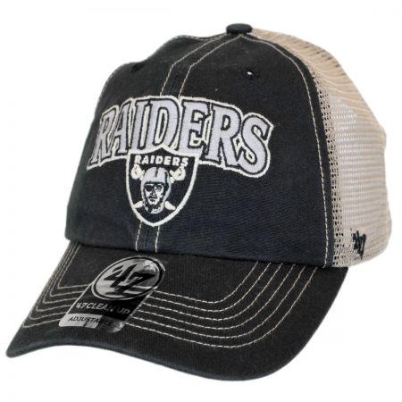 47 Brand Oakland Raiders NFL Tuscaloosa Mesh Clean Up Baseball Cap