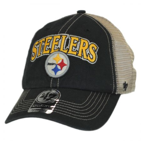 47 Brand Pittsburgh Steelers NFL Tuscaloosa Mesh Clean Up Baseball Cap